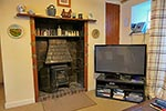 TV and woodburner