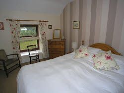 a double bedroom in the self catering accommodation